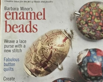 25% OFF Bead and Button Magazine 14 Projects Enamel Beads Button Quilts Polymer Clay 5 Vintage Pieces February 1999