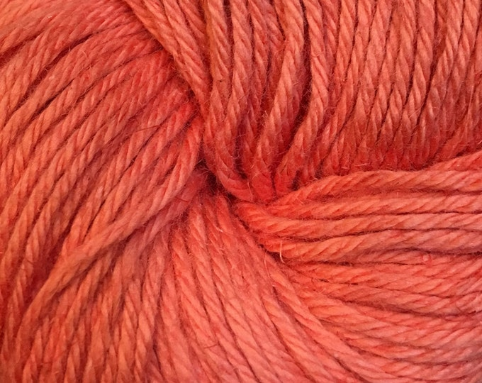 Featured listing image: Clearance Coral Cascade Hampton Pima Cotton and Linen DK Weight Yarn 273 yards color 07