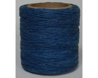 "Waxed Polyester Cord Royal Blue Maine Thread .040"" 1mm cord Waxed Cord Bracelets Wrap Bracelets Made in the USA One Spool 70 yards"