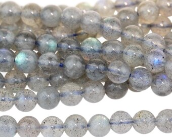 Labradorite 4mm Gemstone Rounds Approx 52 beads A Grade 8 Inch strand