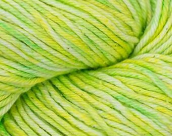 Lemon Lime Cascade Nifty Cotton Splash Variegated Worsted Weight 100% Cotton 185 yards