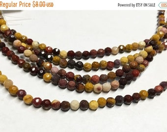 ON SALE Mookite Gemstone Faceted Rounds 4mm 8 inch strand Approx 48 pcs per strand