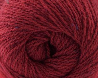 Aegean Tweed Scarlet Red by Cascade Organic Wool Tweed Yarn Rustic Look Yarn 328 yards DK Weight Color 03