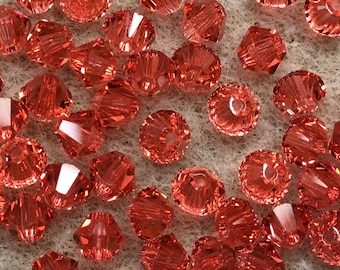 Paadparadscha 5328 Bicone Swarovski Crystal Beads 4mm 24 beads