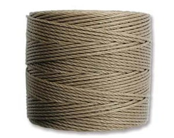 Sand S-Lon #18 Bead Cord Tex 210 Multi Filament Twisted Nylon Cord One Spool 77 yards