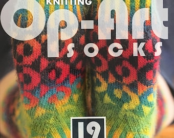 Clearance Knitting Op Art Socks Book by Stephanie Van Der Linden 19 Knitted Sock Patterns for Women and Men