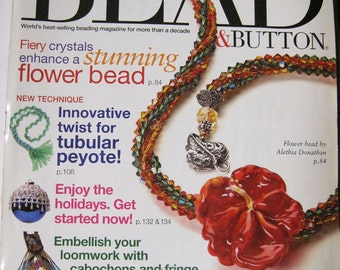 Bead and Button Magazine Tubular Peyote Loom Work Wire Wrapped Pendants October 2005 Issue