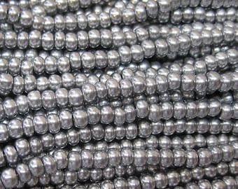 6/0 Bright Silver Preciosa Czech Glass Rocaille Seed Beads 12 grams