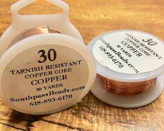 30 gauge Tarnish Resistant Natural Copper Craft Wire 50 yards Made in USA