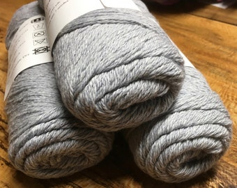 Cestari Blue Denim Heather Ashlawn Collection Cotton Wool 3 ply DK Weight 250 yards Pull Skein Made in the USA
