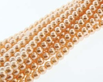 Pink Czech Glass Pearl Beads 3mm Approx. 150 beads