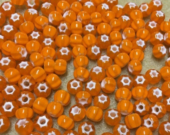 32/0 Orange Preciosa Ornela Star Cornelian Rocaille Seed Beads 6x7mm 20 pcs 311-69001