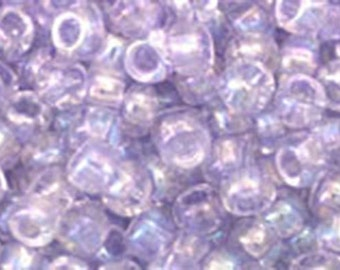 8/0 Dyed Rainbow Lavender Mist Toho Glass Seed Beads 2.5 inch tube 8 grams TR-08-477