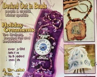 25% OFF Bead Unique Magazine Decked Out in Beads Pearls and Crystal Holiday Ornaments Art Jewelry Home Decor Victorian Plant Stand Winter 20