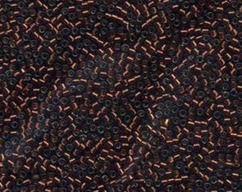 11/0 Miyuki Delica Silver Lined Smoked Topaz Glass Seed Beads 7.2 grams DB0612