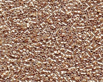 11/0 Miyuki Delica Galvanized Champagne Glass Seed Beads 7.2 grams DB0433