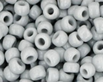 8/0 Opaque Gray Toho Glass Seed Beads 2.5 inch tube 8 grams TR-08-53