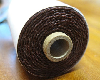 Maroon Waxed Linen Cord 4 ply 10 yards for Macrame Kumihimo Knotting .75mm width