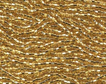 8/0 Straw Gold Silver Lined Genuine Czech Glass Preciosa Rocaille Seed Beads 40 grams