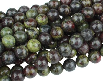 Dragon Blood Jasper 6mm Gemstone Rounds Approx 32 beads 8 Inch strand