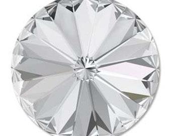 10mm Swarovski 1122 Crystal Faceted Rivoli 47ss 2 pcs