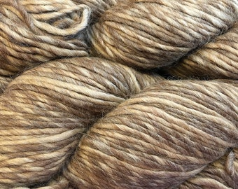 Yarn Alpaca Wool Eco Duo Hazelnut Color Yarn 197 yards Worsted Weight Alpaca Merino Wool Blend Color 1708