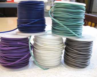 Clearance Rubber Cord Choose Your Color 2mm for Macrame Kumihimo Knotting Jewelry Making Variable Yardage