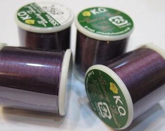 Purple Plum KO Nylon Japanese Beading Thread 55 yards