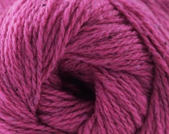 Aegean Tweed Fuchsia by Cascade Organic Wool Tweed Yarn Rustic Look Yarn 328 yards DK Weight Color 12