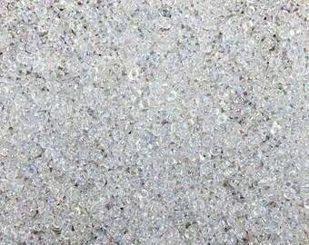 15/0 Crystal Rainbow Transparent Miyuki Glass Seed Beads 6 inch tube 28 grams #250