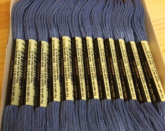 DMC 322 Baby Blue Embroidery Floss 2 Skeins 6 Strand Thread for Embroidery Cross Stitch Needlepoint Sewing Beading