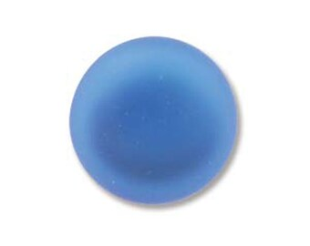 Blueberry Lunasoft Cabochons Luna Soft Lunasilk Round Flat Back Foiled Pendant 2 pcs