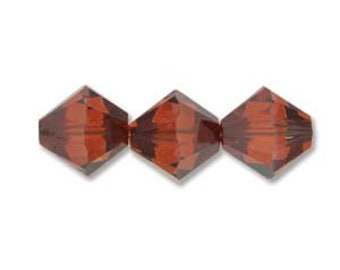 Crystal Red Magma 5328 Bicone Swarovski Crystal Beads 4mm 48 pcs