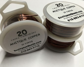 20 gauge Antique Copper Craft Wire 30 ft Made in USA