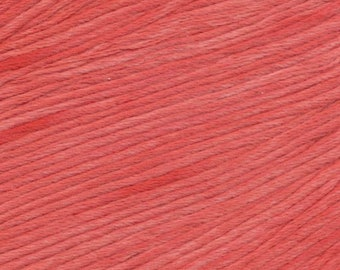 Appletini Ella Rae Sun Kissed yarn DK Weight 262 yards Red Orange 100% Cotton Yarn Color 04