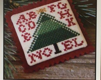 Noel Christmas Tree Cross Stitch Sampler Pattern The Prairie Schooler 2006