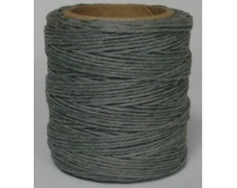 """Waxed Polyester Cord Gray Maine Thread .040"""" 1mm Grey cord Waxed Cord Bracelets Wrap Bracelets Made in the USA One Spool 70 yards"""