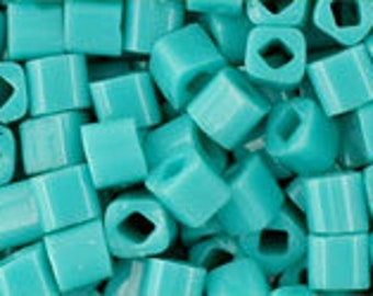 Opaque Turquoise 3mm Toho Cube Beads 2.5 inch Tube 8 grams TC-03-55