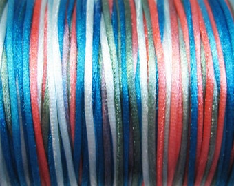 Shades of the Southwest Variegated Satin Rattail Cord 1mm 6 yards for Macrame Kumihimo Knotting