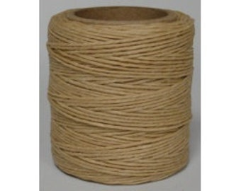 "Waxed Polyester Cord Tan Maine Thread .040"" 1mm cord Waxed Cord Bracelets Wrap Bracelets Made in the USA One Spool 70 yards"