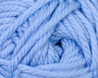 Cherub Super Bulky Incredibly Soft Boy Blue Cascade Yarn 131 yards Acrylic Nylon Blend Color 28
