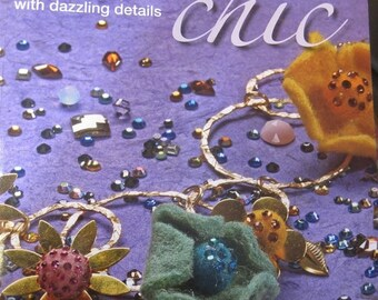 ON SALE Crystal Chic, Custom Jewelry Book with Dazzling Details by Debbi Simon