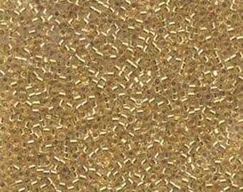 DBL042-8//0 Silver Lined Gold Miyuki Delica Beads