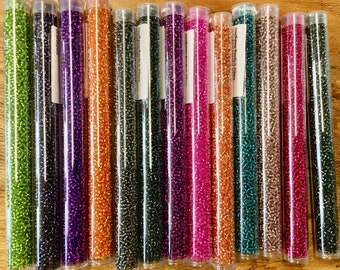 Silver Lined Colors 11/0 Japanese Seed Beads Only One Tube of Each Color Special Purchase 6 Inch Tubes 28 grams Choose Your Color