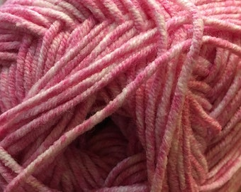 Clearance Candy Pink Cascade Sarasota Cotton and Acrylic Yarn 100 grams 314 yards color 01