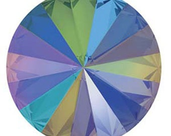 12mm Swarovski 1122 Crystal Paradise Shine Faceted Foil Back Rivoli