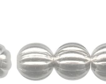 50 Corrugated Round Spacer Beads Silver Plated Brass Beads Bright Silver 4.5mm F316
