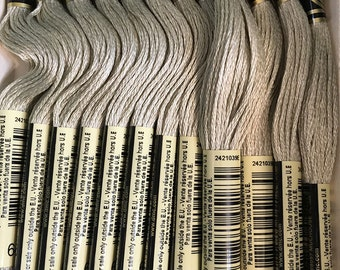 DMC 644 Medium Beige Gray Embroidery Floss 2 Skeins 6 Strand Thread for Embroidery Cross Stitch Needlepoint Sewing Beading
