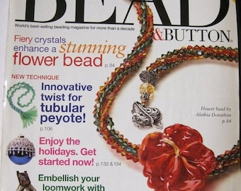 25% OFF Bead and Button Magazine Tubular Peyote Loom Work Wire Wrapped Pendants October 2005 Issue