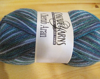 Clearance Incredibly Soft Violets Cascade Cherub Aran Multi Color Yarn 240 yards Acrylic Nylon Blend Color 519